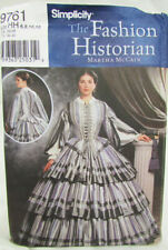 Simplicity 9761 Civil War costume misses gown UNCUT size 6 8 10 12