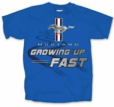 Growing Up Fast - Blue Kids Mustang Shirt. For the Future Ford Mustang Fan YOUTH