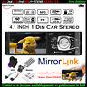 4.1'' Single 1 Din Car MP5 MP3 Player+Camera FM Radio TF Stereo Bluetooth USB EQ