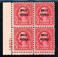 USAstamps Unused US Washington Overprint Plate # Block Scott 646 OG 3 MNH, 1 MHR