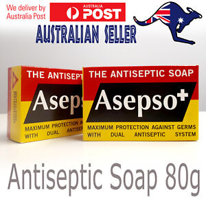 3/6/12 Asepso Antiseptic Soap Bar Antimicrobial Prickly Heat Skin Infection 80gm