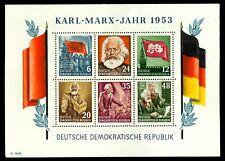 DDR #MiBl8A Mint S/S CV€100.00 Marx Stalin Engels Lenin Flag [144a][Faulty]