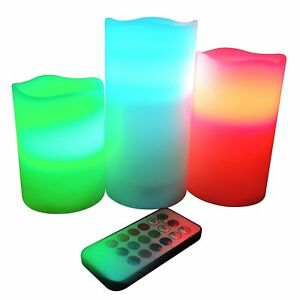 FROST FIRE  FLAMELESS WAX CANDLES WITH REMOTE CONTROL VANILLA SCENTED