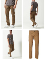 RRP - £45.00 SELECTED HOMME Three Paris Organic Cotton Stretch Chinos, Camel, Si
