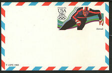 USA Cover Ganzsache Entire ungelaufen USPS 1982 Air Mail Olympics