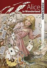 ALICE IN WONDERLAND POSTCARD BOOK ~ RACKHAM Atwell FOLKLAND Winter + MORE ~ NEW