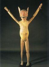 Postkarte: Schreckfigur gegen böse Geister, Nikobaren