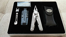 NEW Leatherman Charge XTi Titanium Multi-Tool Premium Leather Sheath RETIRED tin