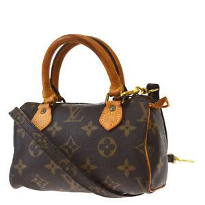 Auth LOUIS VUITTON Mini Speedy 2Way Hand Bag Monogram Leather M41534 82JC618