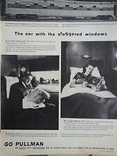1946 Pullman Trains Railway Railroad Cars With Staggered Windows Newspaper Print