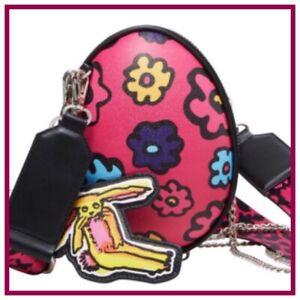 NWT Betsey Johnson KITSCH Eggcellent EASTER EGG Crossbody Purse BAG PiNK VHTF!