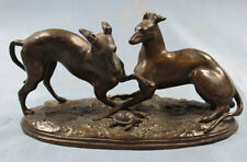 Windhund Greyhound whippet original bronze figur hund bronzefigur windspiel
