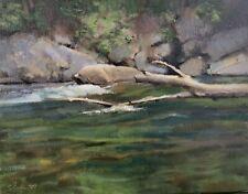 Shane Harris Original Oil Painting Impressionist Summer River Vermont
