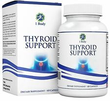 Thyroid Support Supplement Vegetarian A complex blend of Vitamin B12 60 Capsules