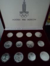 RUSSIA (URSS) - SERIE MONETE FDC CELEBRATIVE DEI XXII GIOCHI OLIMPICI MOSCA 1980