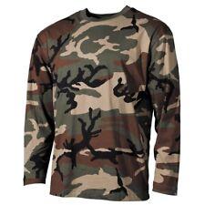 US Tarn-Shirt, langarm, woodland,, 170 g/m², MF 00113T LEGGI DESCRIZIONE