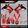 HONDA CR CRF 125 250 450 MOTOCROSS MX GRAPHICS SPLIT KIT FACTORY BLACK