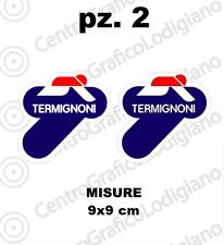 2x Adesivi stickers termignoni moto scarico marmitta