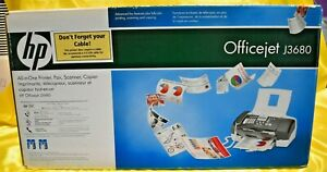 NEW HP Officejet J3680 All-In-One Inkjet Printer NEW IN BOX!!! (2009)