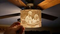 Custom 3D printed lithophane from YOUR photo.  Multiple Sizes available!