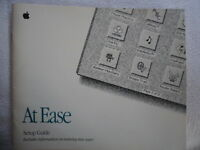 Vintage 1992 Apple Macintosh Computer At Ease Setup Guide Manual Book Retro