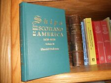 Ships From Scotland To America Volume 2 Genealogy Book