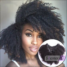 7pcs 70g Set Clip in Brazilian Human Hair Extension Afro kinky curly clip hair
