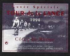 COTES DU RHONE ETIQUETTE DECOREE CUVEE SPECIALE TOUR DE LA LANCE 1994§01/11//17§