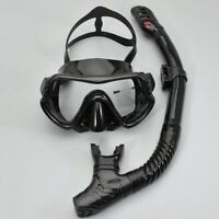 Scuba Diving Mask Silicone Mask Snorkel Set AntiFog Underwater Swimming Goggles