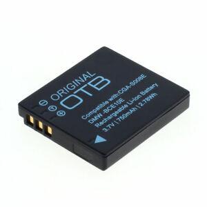 Akku f. Panasonic Lumix DMC-FS20 750mAh Li-Ionen (CGA-S008)