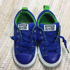 Converse All Star Street Shoes Baby Toddler Size 8 Blue Green