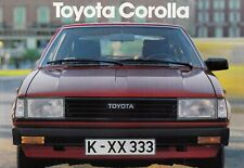 TOYOTA COROLLA Limousine Liftback Youngtimer Prospekt Brochure 1982 96
