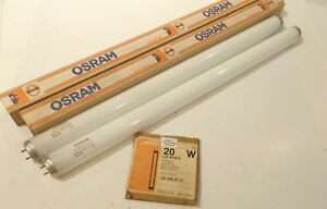 Lot of 2 OSRAM L20 W/20 S Fluorescent Lamps - Cool White - Prepaid Shipping