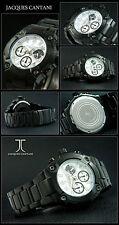 OSCURO horse-cantani cronógrafo hombre reloj pedazo del diseñador Ion Negro