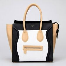 Celine Tricolor Mini Luggage Authentic Originally $3400 ICONIC BAG All Leather