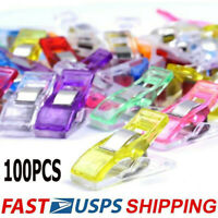 100Pcs Plastic Sewing Clips Clamp for Sewing Quilting Knitting Craft Crochet US