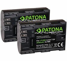 Lot de 2 Batteries Compatible CANON LP-E6 LPE6 EOS 5D Mark II EOS 7D