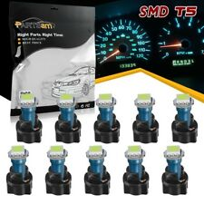 10) T5 PC74 Twist Socket Instrument Cluster Ice Blue Dashboard Led Light Bulb