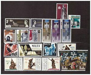 S31692) Malta 1967 MNH Complete Year Set 20v