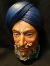 Vintage 1966 Sikh Bossons Head Chalkware Wall Hanging England
