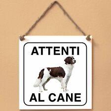 Drentse Patrijshond 1 Attenti al cane Targa cane cartello ceramic tiles