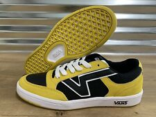 Vans Lowland Collection Skate Shoes Sulphur Yellow Black SZ 9 ( VN0A4TZYXB6 )