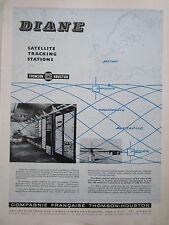 5/65 PUB THOMSON HOUSTON DIANE SATELLITE TRACKING STATIONS BRETIGNY HAMMAGUIR AD