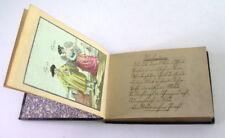 handgeschriebenes antikes Poesie Album von 1852 - mit antiken Stichen