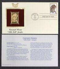 CAROUSEL HORSES Lillie Belle Jumper 1995 FDC #2979 22kt Golden Replica 32c Stamp