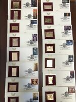 22k Gold Replica Star Wars - Complete Set Of 15  Stamp 2007 - 1st Day Issue Set
