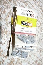 HE Brawa 3742 Stecker rund, grau 14 Packungen (a 10 Stück) = 140 Stück