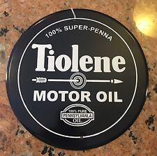 """Tiolene Oil Round Sign 12"""" D Retro"""