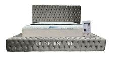 Luxury Plush Velvet Royal Bed Chesterfield Bed Designer Bed All Colours & Sizes