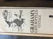a1n ephemera 1980s advert graham's port 1979 late bottled vintage